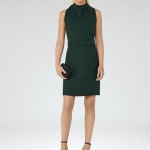 Reiss Emerald Sicily Lace Back Dress